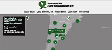 Aquí estamos: ¿Cómo es el mapa virtual en apoyo el aborto legal?