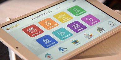 Larreta entregó la tablet 100.000 de +Simple: