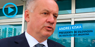 Eset Argentina recibió al presidente de Eslovaquia