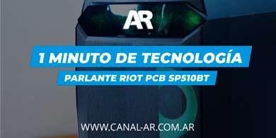 1 Minuto de Tecnología: Parlante RIOT PCB SP510BT