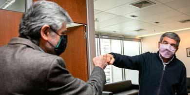 Salvarezza recibió a Filmus para dar continuidad al trabajo en Ciencia y Tecnología